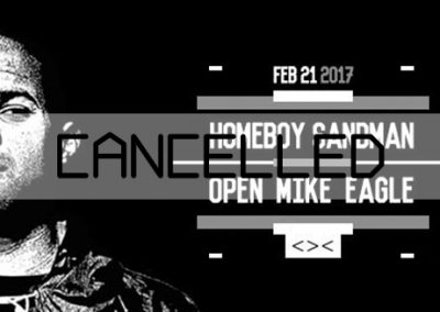 21/02 cancelled: Homeboy Sandman / Open Mike Eagle / Parkwaechter Harlekin