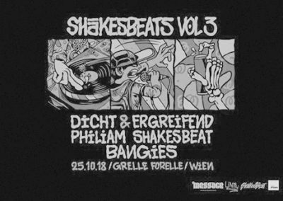 25/10 Shakesbeats Vol.3 w/ Dicht & Ergreifend, Philiam Shakesbeat, etc