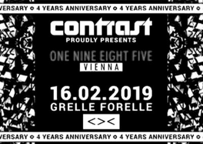 16/02 CONTRAST presents 1985 MUSIC – Label Night