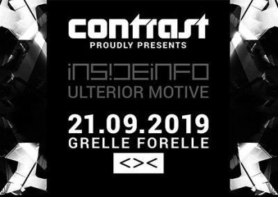 21/09 CONTRAST presents InsideInfo & Ulterior Motive
